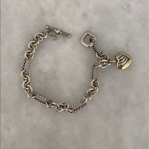 Authentic David Yurman heart charm bracelet